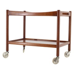 1960s Hans Wegner for Andreas Tuck Teak Serving Trolley Bar, Denmark