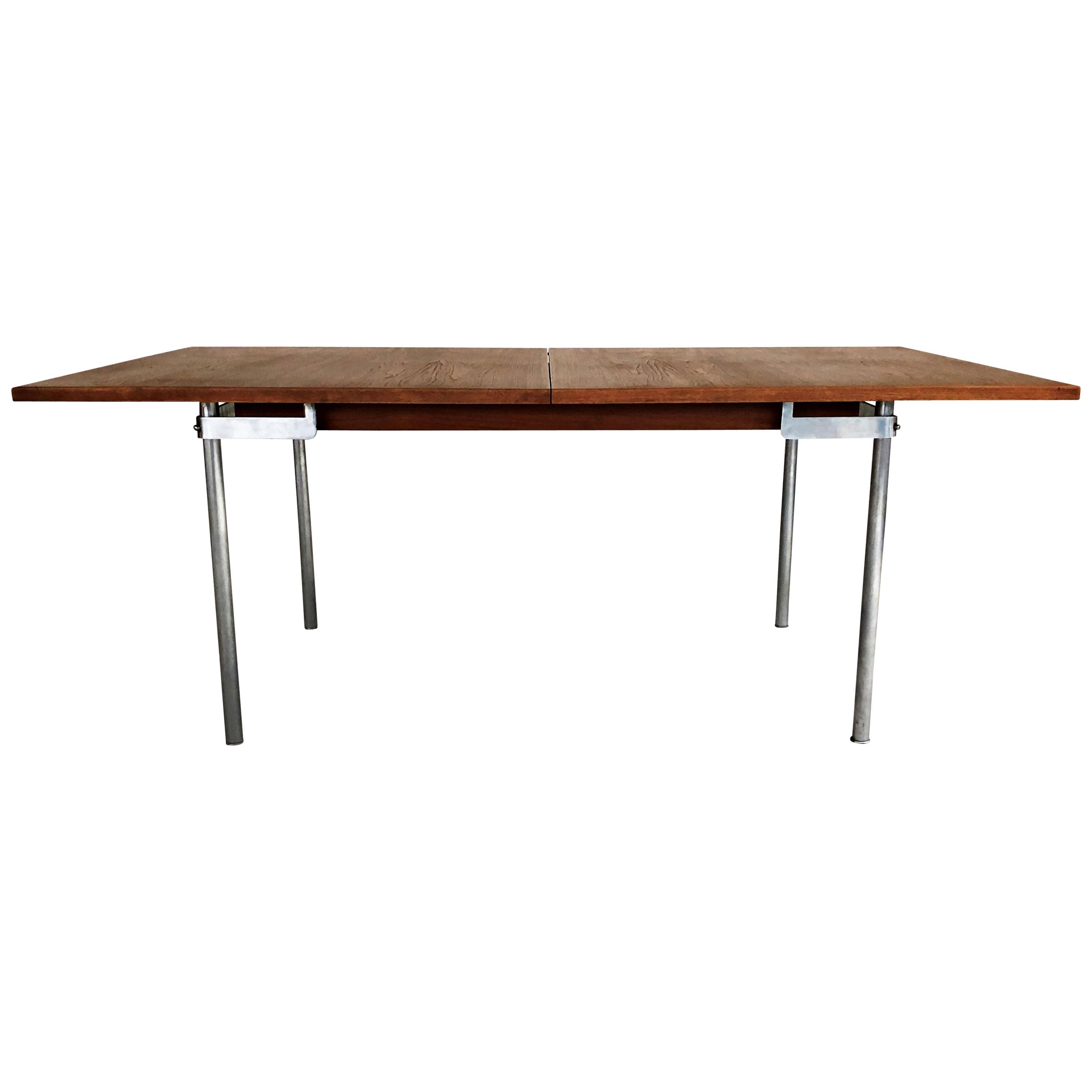1960s Hans Wegner Refinished Extension Dining Table in Teak by Andreas Tuck