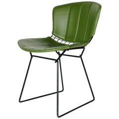 1960's Harry Bertoia Design for Knoll Associates Fitted Cover Wire Side Chair