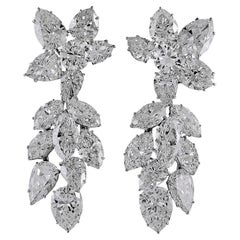 Harry Winston Diamond Cluster Chandelier Earrings