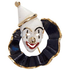 1960s Hattie Carnegie Clown Brooch