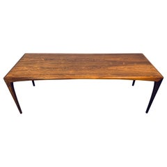 1960s Heltborg Møbler Rosewood Coffee Table Designed by Erling Torvits Model 165