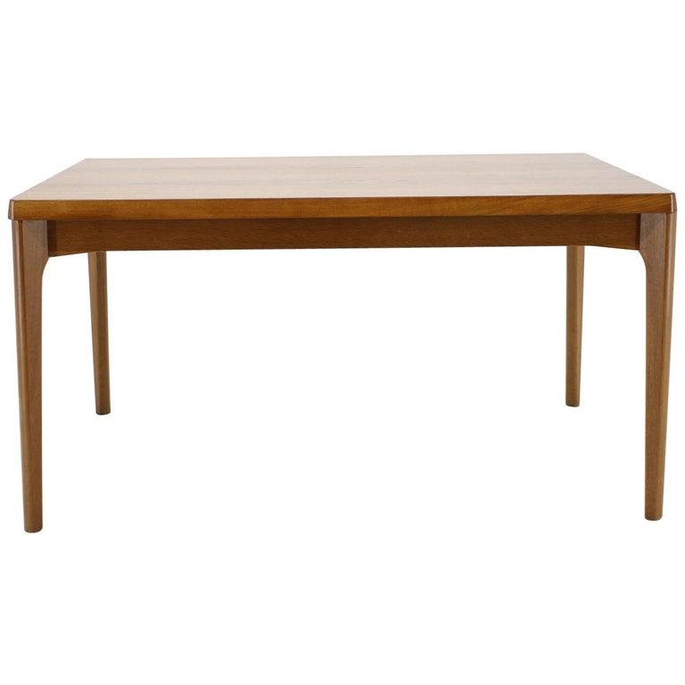 1960s Henning Kjærnulf Danish Oak Extendable Table