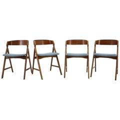 1960s Henning Kjærnulf Teak Dining Chair, Set of 4