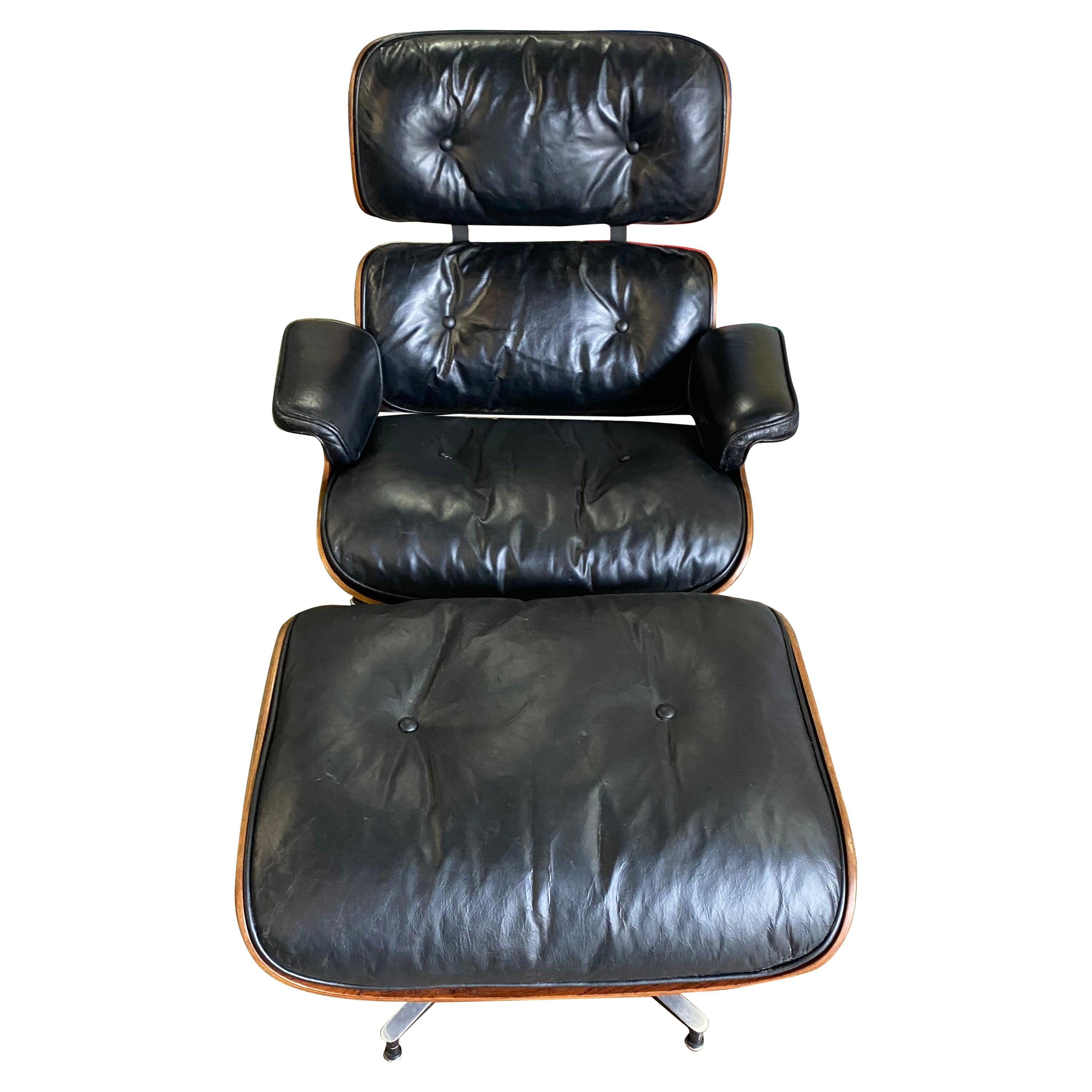 1960s Herman Miller Eames Lounge Chair and Ottoman
