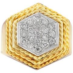 1960s Hexagon Diamonds Ring