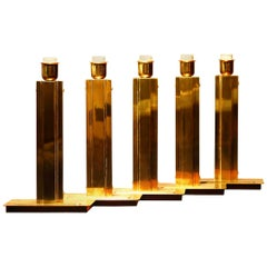 1960s, Hollywood Regency Polished Brass Table Lamps by Örsjö, Sweden