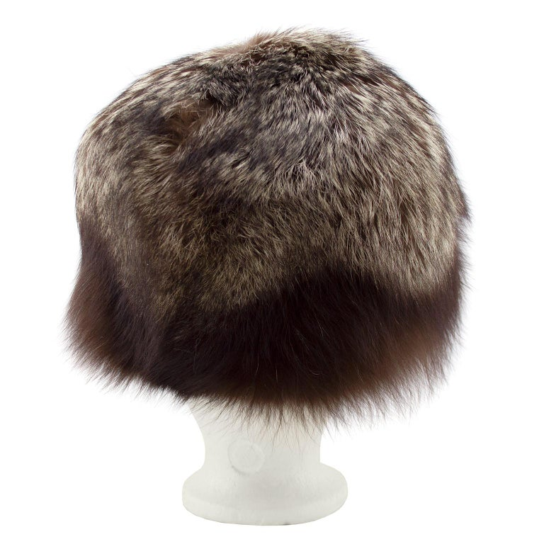 Black 1960's Holt Renfrew Raccoon Hat  For Sale