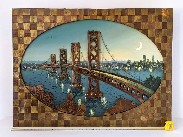 3D wall art by unknowed talentuous hands in the 1960s. 