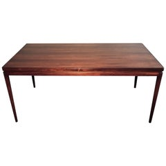 1960s Ib Kofod-Larsen Large Rosewood Dining Table by Christian Linneberg