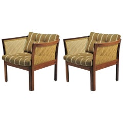 1960s Illum Vikkelso Set of Two Plexus Easy Chairs in Rosewood by CFC Silkeborg