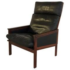 "1960s Illum Wikkelsø Danish High Back ""Capella"" Lounge Chair by Niels Eilersen."