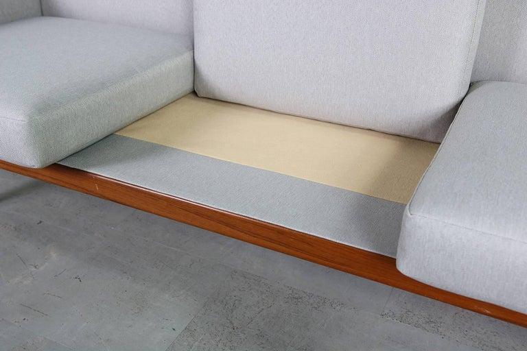 1960s Illum Wikkelso Teak Lounge Sofa Model 50-3 Soren Willadsen Danish Modern 10