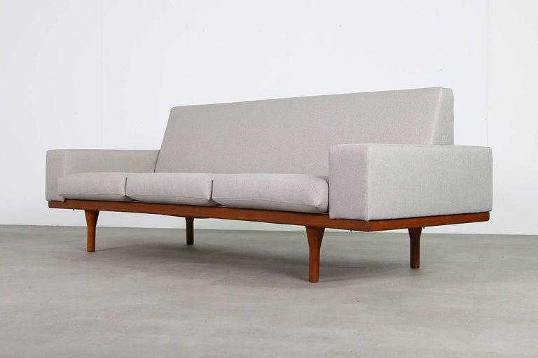 1960s Illum Wikkelso Teak Lounge Sofa Model 50-3 Soren Willadsen Danish Modern 2