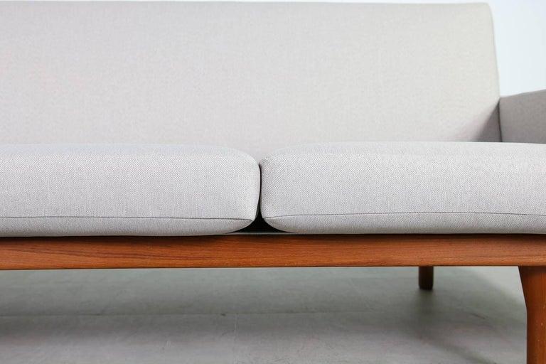 1960s Illum Wikkelso Teak Lounge Sofa Model 50-3 Soren Willadsen Danish Modern 3