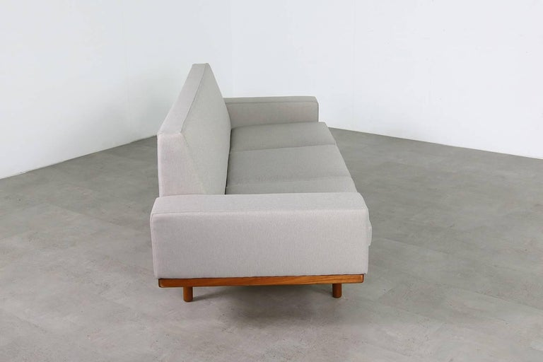 1960s Illum Wikkelso Teak Lounge Sofa Model 50-3 Soren Willadsen Danish Modern 4