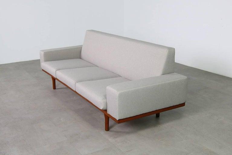 1960s Illum Wikkelso Teak Lounge Sofa Model 50-3 Soren Willadsen Danish Modern 8