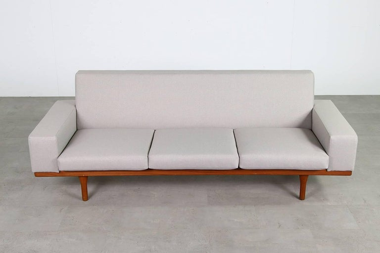 1960s Illum Wikkelso Teak Lounge Sofa Model 50-3 Soren Willadsen Danish  Modern