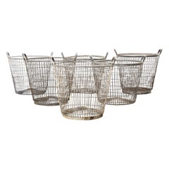 1960s Industrial French Potato Picking Baskets