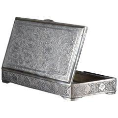 1960s Iranian Rectangular Signed Silver Box