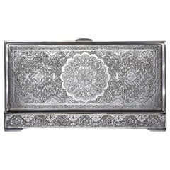 1960s Iranian Rectangular Silver Box