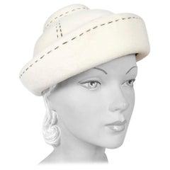 1960s Irene of New York Cream Hat