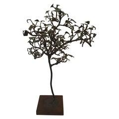 1960s Iron Tree Sculpture