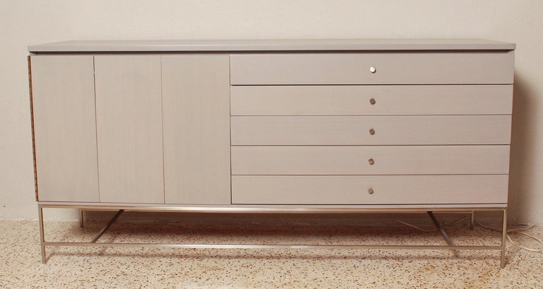 Mid-Century Modern 1960s Irwin Collection Grey Mahogany Sideboard by Paul McCobb for Calvin For Sale