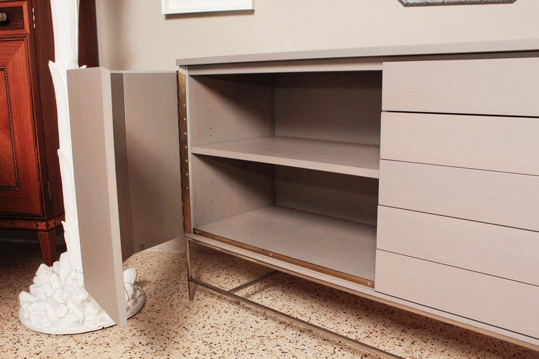 1960s Irwin Collection Grey Mahogany Sideboard by Paul McCobb for Calvin In Good Condition For Sale In North Miami, FL