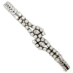 1960s Italian 2.36 Carat Diamond White Gold Bracelet by Chimento