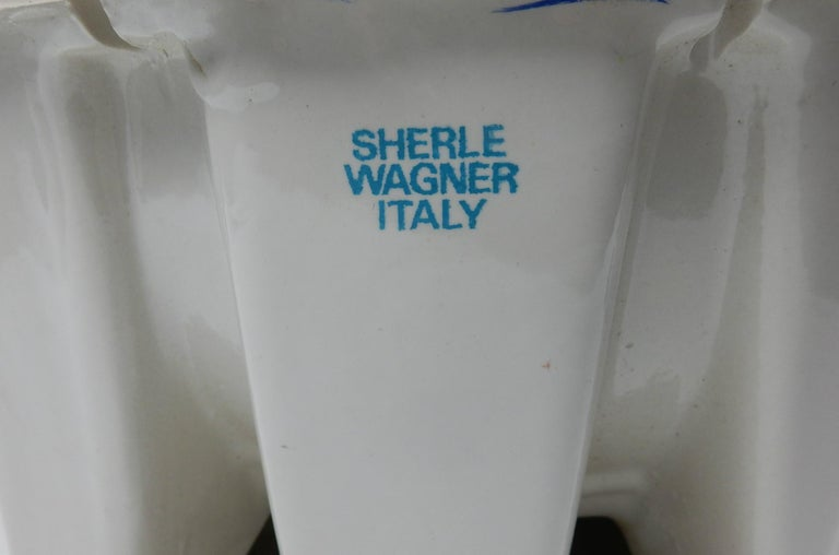 1960s Italian Bathroom Basin Sink, Facet and 22-Karat Spout from Sherle Wagner In Good Condition For Sale In Las Vegas, NV