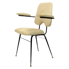 1960s Italian Black Painted Steel Desk Chair