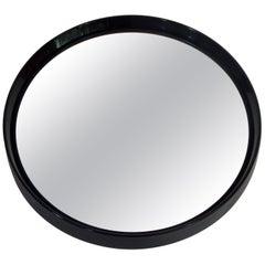 1960s Italian Black Round Mirror Collezione Salc