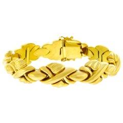 1960s Italian Braid Motif Gold Bracelet