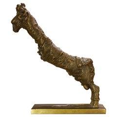 1960's Italian Bronze Male Goat Sculpture