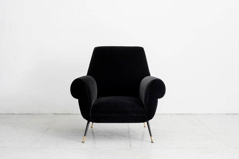 Mid-20th Century 1960s Italian Club Chairs For Sale