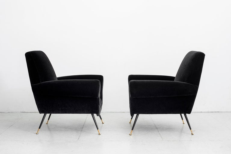 Leather 1960s Italian Club Chairs For Sale