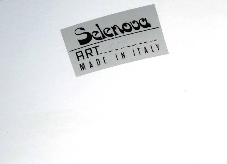 Modern 1960s Italian Design by Selenova Glass Table Lamp For Sale