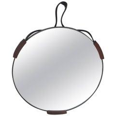 1960s Italian Design Round Mirror