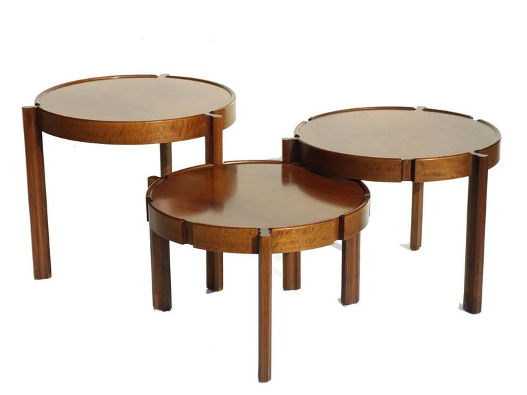 Mid-Century Modern 1960s Italian Design Wood Nasting Coffee Tables For Sale