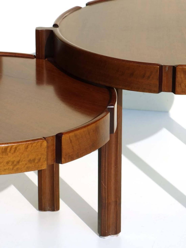 1960s Italian Design Wood Nasting Coffee Tables For Sale 1