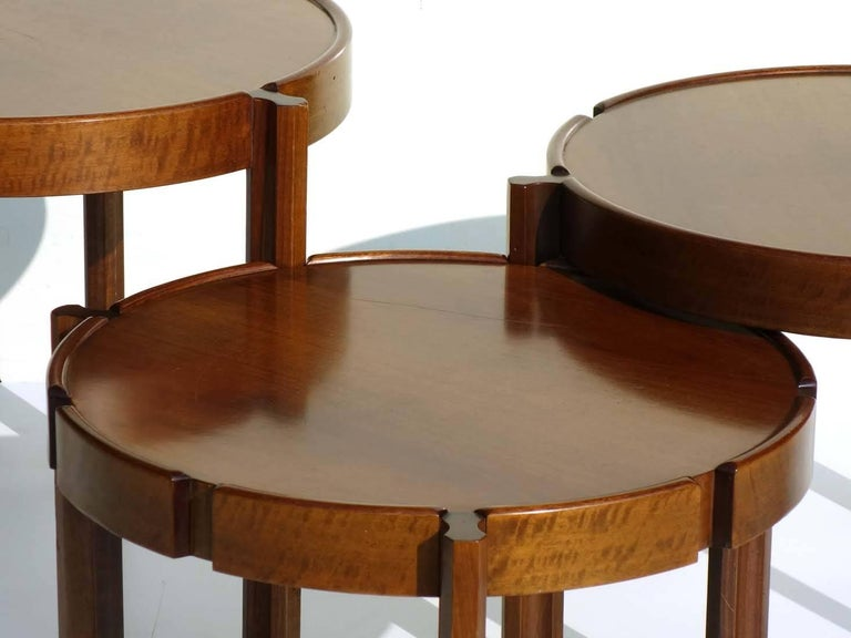 1960s Italian Design Wood Nasting Coffee Tables For Sale 2