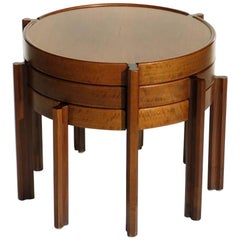 1960s Italian Design Wood Nasting Coffee Tables