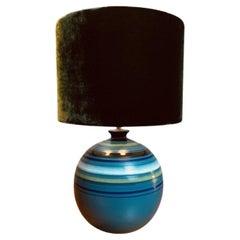 1960s Italian 'Fascie Colorate' Ceramic Bitossi Rosenthal Table Lamp Aldo Londi
