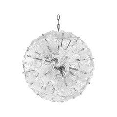 1960s Italian Glass Sputnik Chandelier