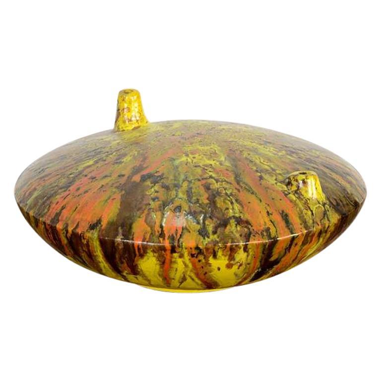 1960s Italian Glazed Ceramic Vase