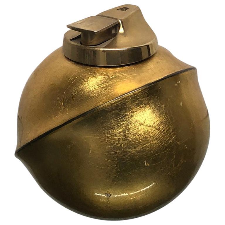 1960s Italian Gold Leaf Cigarette Lighter