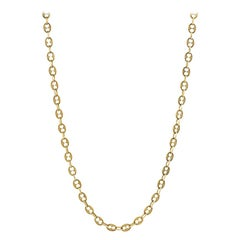 1960s Italian Gold Nautical Link Necklace