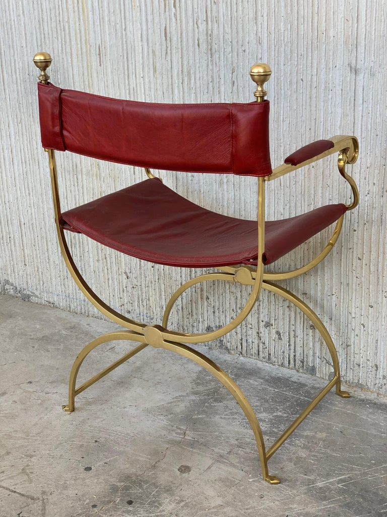 1960s Italian Hollywood Regency Chrome and Leather Savonarola Director's Chairs For Sale 6