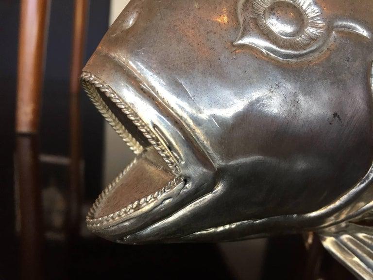1960s Italian Metal Fish Sculpture For Sale 2